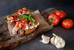 Bruschettas aux legumes grilles