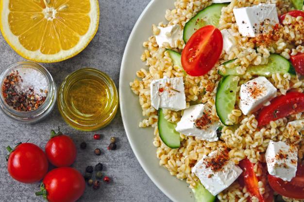 Salade grecque au boulghour Recettes BodySano
