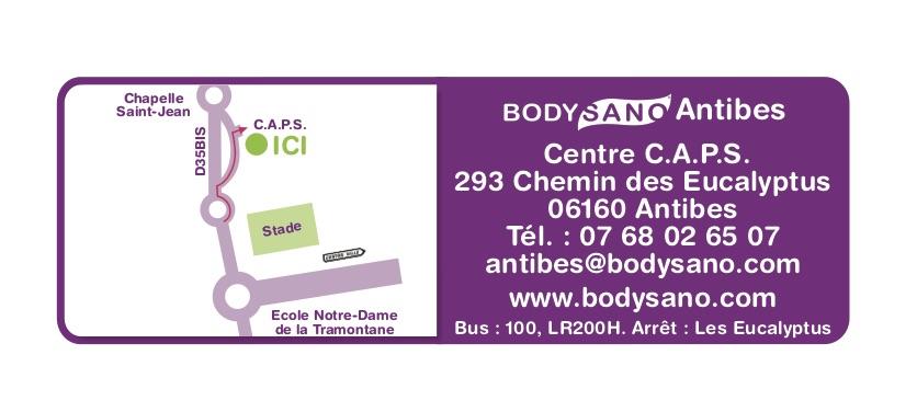 Antibes BodySano Plan Carte